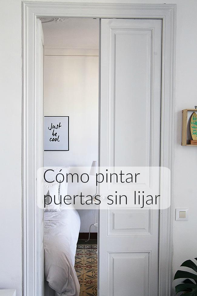 C mo pintar puertas de casa sin lijar con versante mandarina - Como pintar puertas de sapeli ...